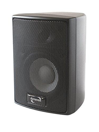 Dynavox AS-301 Satelliten-Lautsprecher, Paar, für Heimkino oder Büro, kompakte Surround-Box, Wandmontage, schwarz