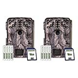 Moultrie MCG-14002 Camera A900i Game Trail Camera Bundle   AAA Batteries   16 MB SD Cards   Moultrie Pine Bark Camera - (2 Pack)