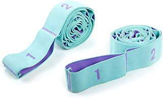 Yoga belt Stretching Strap Multi-Grip Flexibility Leg Stretch Band Yoga Strap Stretching Bands With 11 Loops for Rehab, Yo...