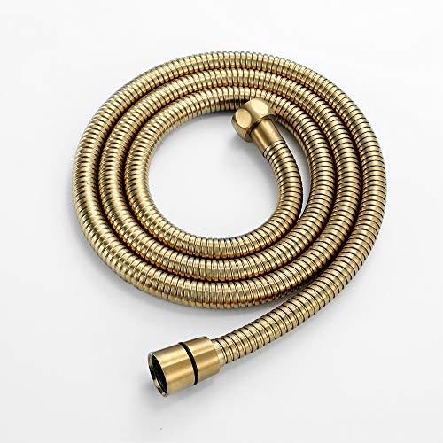 Manguera de ducha 1.5M Manguera de ducha larga flexible hecha de acero inoxidable Antiarrugas Antiexplosión Cifrado a prueba de fugas Conector de latón universal Reemplazo Cable de tubería de ducha de