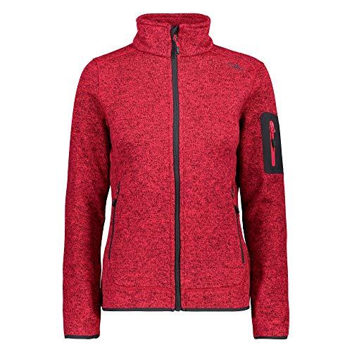 CMP – F.LLI Campagnolo Damen Knit Tech Polyester-Strickfleecejacke Fleece Jacket, Granita, D46