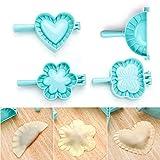 Lezed Stampi per Ravioli Pasticceria Stampo per Crostata Ravioli Dumpling Maker e Pasta Stampa Dumpling Pie Ravioli Mold Attrezzo Accessorio per Cucina 4 Pezzi