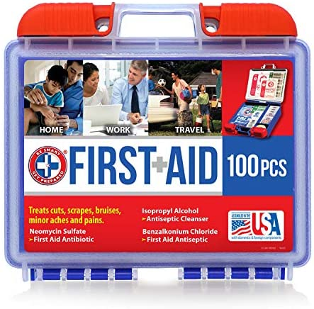 Be Smart Get Prepared 100 Piece First Aid Kit:...