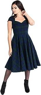 Hell Bunny Aberdeen Retro Dress - Dublin Tartan (Navy/Green)