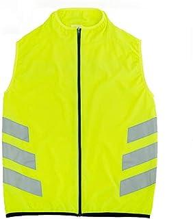 Heflashor Warnweste Sicherheitsweste mit Einstellbarem 360/° Reflektierendem Etikett Warnwesten H/öhe Sichtbarkeit Sicherheitsweste Sport f/ür Fahrrad Laufen Running Motorrad Camping