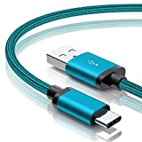 Benicabe USB Type C Cable Fast Charging [2-Pack 6FT] - for Galaxy S10 Charger, S8 S9 S10e, USB to USB C Adaptive Charging Cable for Samsung Galaxy S10 S9 S8 S20 Plus, Note 8 9 10 20 (Prism Green)