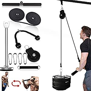 Fitness LAT and Lift Pulley System Professional Pulley Cable Machine Muscle Strength Fitness Equipment for Biceps Curl…