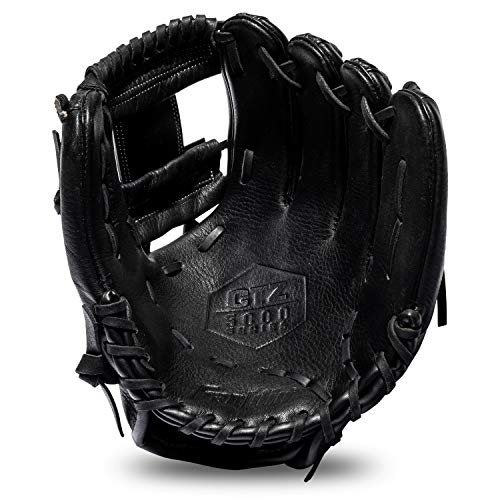 "Franklin Sports Baseball Fielding Glove - Men's Adult and Youth Baseball Glove - CTZ5000 Black Cowhide Infield Glove - 11.5"" I-Web for Infielders"