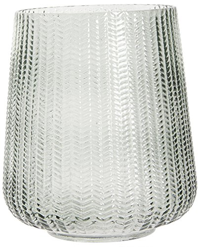 Ib Laursen Hurricane grünes Dekoglas-Windlicht-Vase