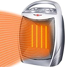 Minetom Portable Ceramic Space Heater 1500W/750W, Electric Room Heater with Tip-Over and Overheat Protection, 200 sq. Ft Fast Heating for Indoor Office Desk Home, ETL Certified