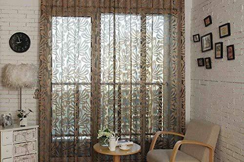 Dolce Mela DMC473 Sheer Curtain Panels 60 x 100 inch Tall Window Treatments, Barcelona Bedding & Home Decor