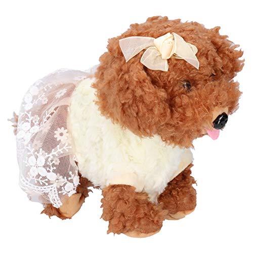 ROMACK Perro de Control por Voz, Lindo Animal doméstico electrónico Interactivo Inteligente para niños de 3 años o más(Osito de Peluche)