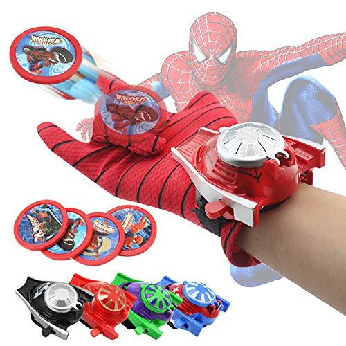 VNUSToys Marvel Avengers Toy Super Hero Glove Launcher Props Captain America Spiderman Hulk Ironman Cosplay Launcher for Kids (Spider Man)