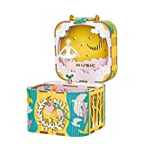 Rolife Dream Hand Crank Music Box with Inner Machine-3D Wooden Puzzle DIY Assemble Toys-Creative Gift for Christmas/Birthday/Valentine's Day for Kids Children Girl Friends (Ballet Princess)