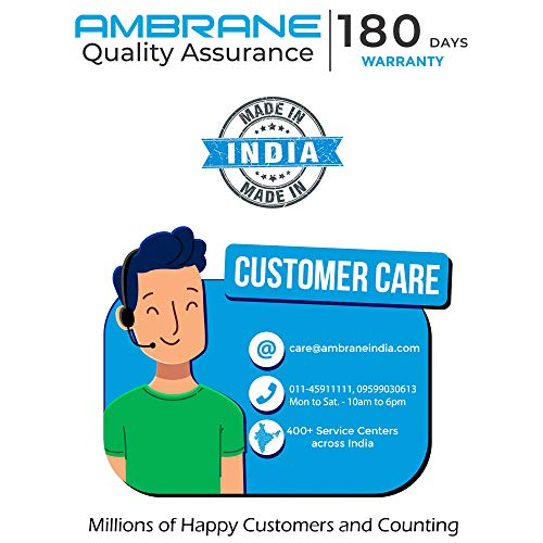 Ambrane 10000 mAH Lithium Polymer Power Bank with Micro/Type C Input for Android & iPhone (PP-11, Black) 6