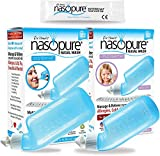 Nasopure Nasal Wash, Combo System & Little Squirt Kits, The Nicer Neti Pot Sinus Rinse Kit, Comfortable, 8 Oz & 4 Oz Bottles & 40 Salt Packets (3.75G Each), Congestion, Cold, Allergy, Nasal Irrigation