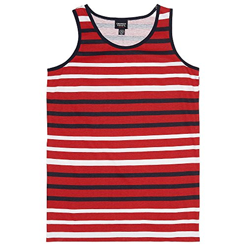 French Toast Boys' Little Striped Tank Top, Scarlet Ruby, 6