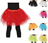 Fiestas Guirca tutù con Glitter per Bambina