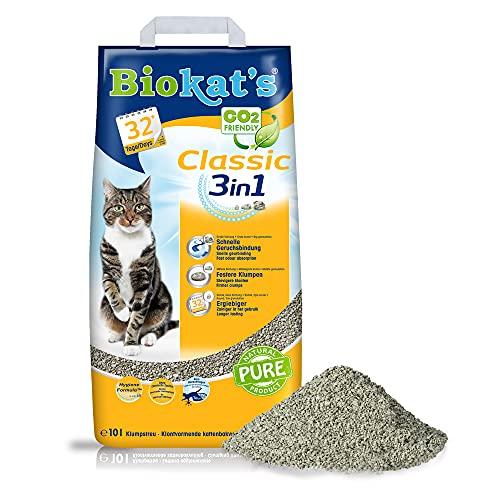 Biokat's Katzenstreu Classic 3in1, 1 Packung (1 x 10 L)
