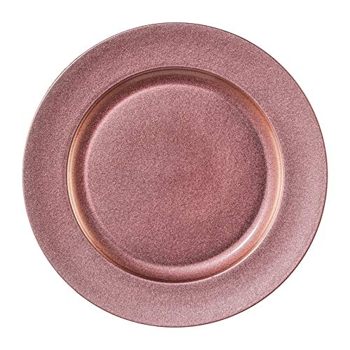 creativ home Melamin Teller rund Shining. Dekoteller metallic 33cm, pink, ROSA. Art.: 6017655-10