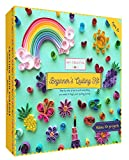 MY CREATIVE CAMP Beginner's Quilling Kit - DIY Craft Kit for Kids and Adults - 10 Projects with Instructions, Storage Box, Glitter, Tools and Supplies, Paper Strips, Shape Chart, and Reference Guide