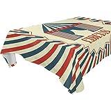 LIUBT HELVOON Vintage Zirkus-Poster rechteckig Tischdecke