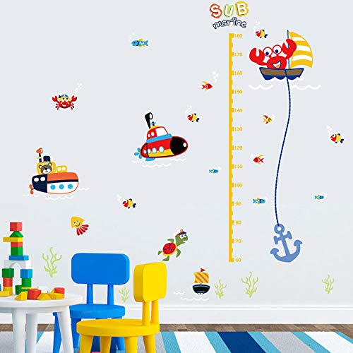 Cartoon Höhenmesslineal Kindergarten Kinderzimmer Kinder Kinder Abnehmbare Wandaufkleber Aufkleber Decor Kunstwand Poster t30 wangzhanping