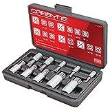 Get CARBYNE 10 Piece XZN Triple Square Spline Bit Socket Set, S2 Steel Bits | Metric 4mm - 18mm Just for $26.88