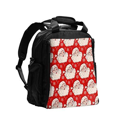 Red Hat Navidad Santa 22 gran capacidad multifunción bolsa de pañales mamá papá bolsa de cuidado del bebé bolsa de pañales bolsa de enfermería