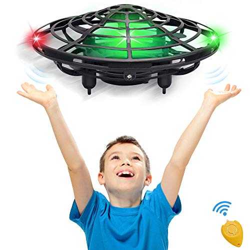 CPSYUB Hand Operated Kids Drone, Toys for 4-5 Year Old Boys, Hands Free Mini Drone Helicopter for Kids, Flying Drone Kid Toys for 4, 5, 6, 7, 8, 9, 10, 11, 12 Year Old Boys and Girls (Black)