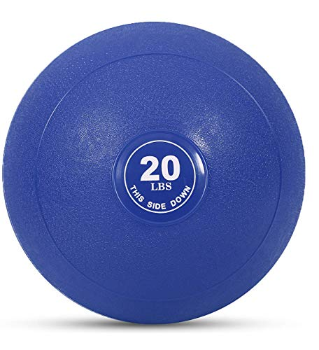 Weighted Slam Ball by Day 1 Fitness – 20 lbs NAVY - No Bounce Medicine Ball - Gym Equipment Accessories for High Intensity Exercise, Functional Strength Training, Cardio, CrossFit