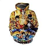 Lonimor Mens 3D Print Hoodie Pullover Sweatshirt Pullover Mit Kapuze Sweat Baseball Jersey Cosplay Langarm One Piece M