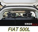 ERGOTECH Divisorio Griglia Rete Divisoria per Auto Originale RDA65-XS8, per Trasporto Cani...
