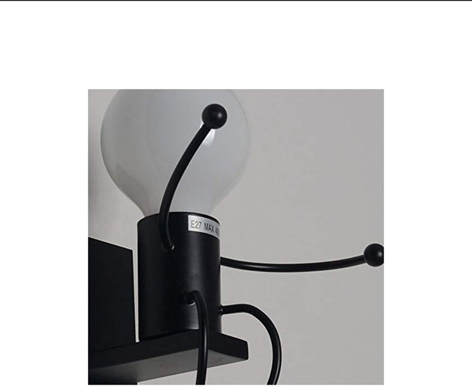 Bedroom Bedside Lamp, Minimalist Creative Villain Wall Lighting