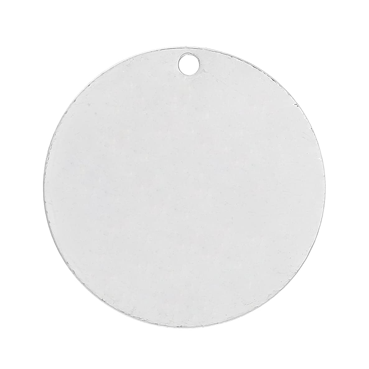 Craft Making Shop 20 Silver Plated Copper Round Metal Stamping Blanks 25mm Diameter Circle Blanks