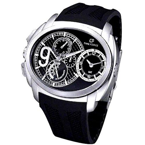 Time Force TF3330M01 - Reloj, Correa de Goma Color Negro