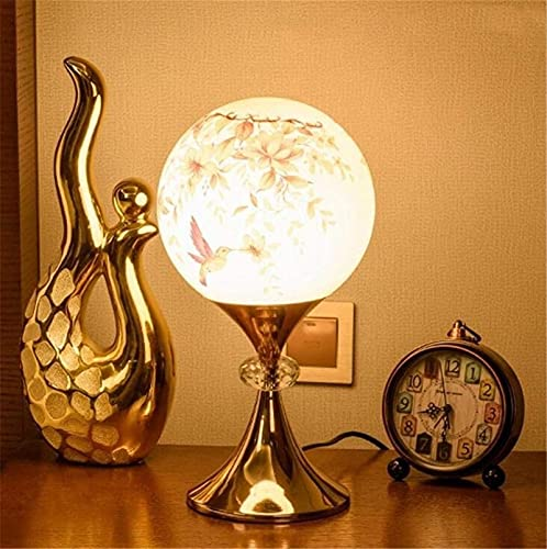 Lámpara de mesa de cristal de metal nórdico Mesa creativa Luz de noche Lámpara de escritorio Lámpara de escritorio Personalidad Moderno Iluminación Oficina de estudiante Dormitorio Dormitorio Cama Sal