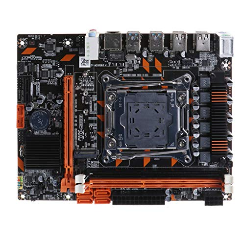 SUCHUANGUANG Placa Base de computadora X99 DDR3 Mini LGA2011-3, Placa Base de Interfaz M.2 de Memoria de Doble Canal, Placa Base