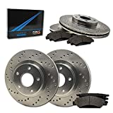 Saab 9-4X Performance Brake Kits - Max Brakes Front & Rear Performance Brake Kit [ Premium Cross Drilled Rotors + Metallic Pads ] TA155823 | Fits: 2014 14 2015 15 Cadillac SRX