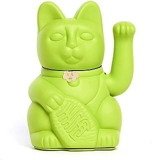 Gatto Fortunato Cinese. Gatto portofortuno. Lucky cat. Maneki Neko. COLORE VERDE CHIARO 12x8x18cm