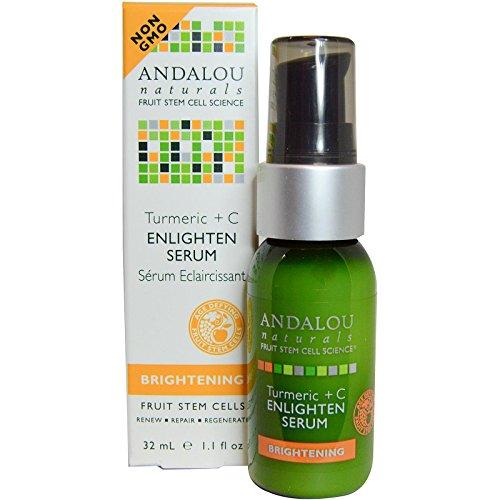Andalou Naturals Enlighten Serum Turmeric + C Brightening