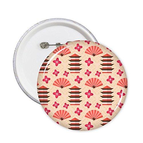 DIYthinker Japón Cultura japonesa linda del estilo del templo ventilador de la...