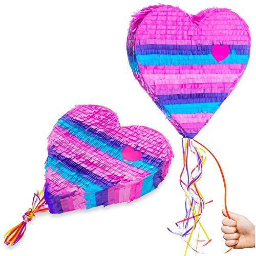 GOODS+GADGETS Pinata Party-Dekoration zum Befüllen mit Süßigkeiten für Kinder-Geburtstag Hochzeit Feier - Herz