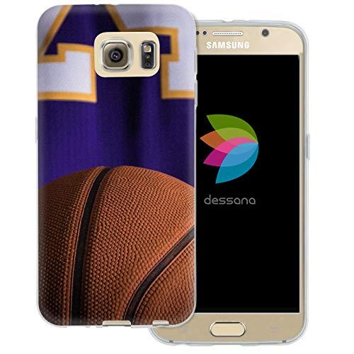 dessana - Cover trasparente per Samsung Galaxy S6, motivo: pallacanestro