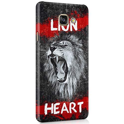 Custodia in Plastica Rigida Per Samsung Galaxy A5 2016 Leone Frasi Lion Savage Animal Black Marble Quote Safari Tiger Roar Wildness Lion Head Exotic Wild Cat Cover Protettiva Sottile e Leggera