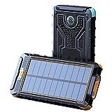 LFLDZ Banque d'alimentation sans fil, haute capacité 20 000 mAh Solar Powerbank, Qi Fast Wireless...