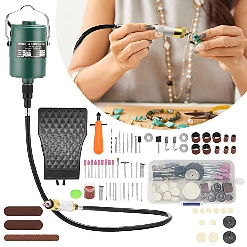 Kacsoo Rectificadora colgante, rectificadora de eje flexible de 380 W con, eje de taladro flexible y kit de accesorios mixtos para proyectos de manualidades y creaciones de bricolaje