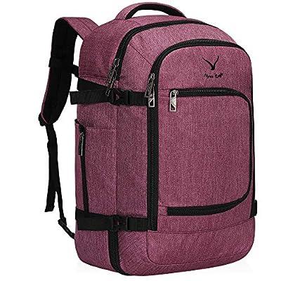 Hynes Eagle Travel Backpack 40L Flight Approved Carry on Backpack, Red Violet 2018