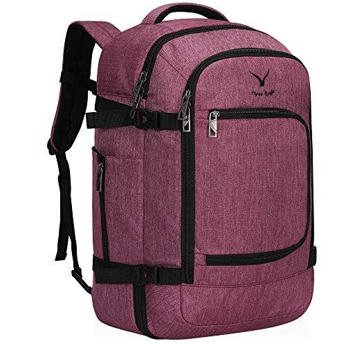 Hynes Eagle Travel Backpack 40L Flight Approved Carry on Backpack, Red Violet 2018