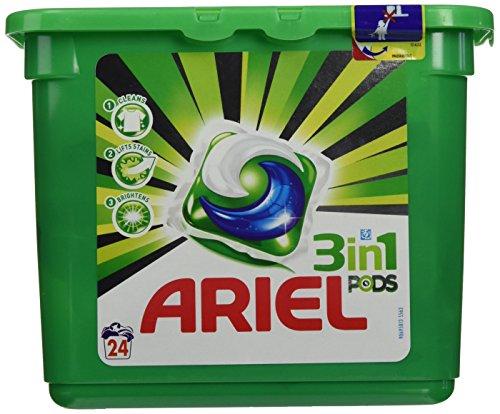 Ariel - Cápsulas de detergente 3 en 1 - 24 unidades -...